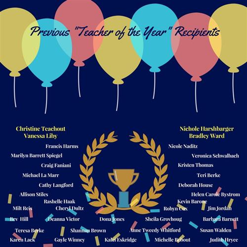 Previous Teacher of the Year Winners
