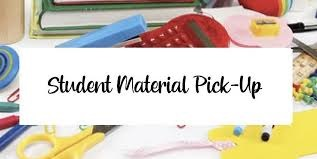 Student Material Pick Up Day is Thursday, October 15th