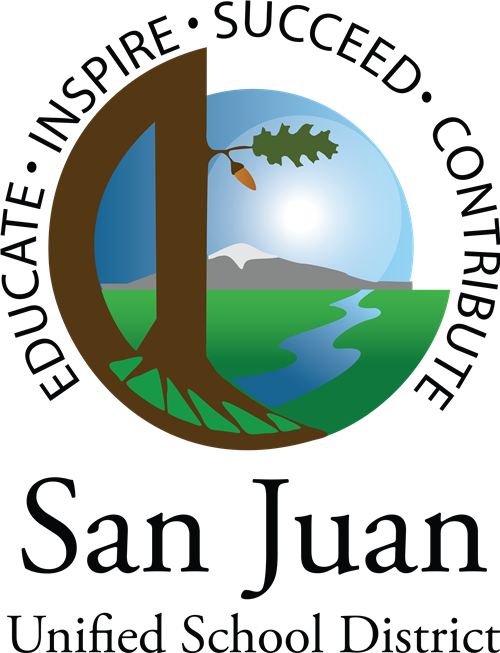 San Juan Unified School District logo with tree