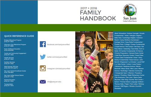 Front cover of family handbook