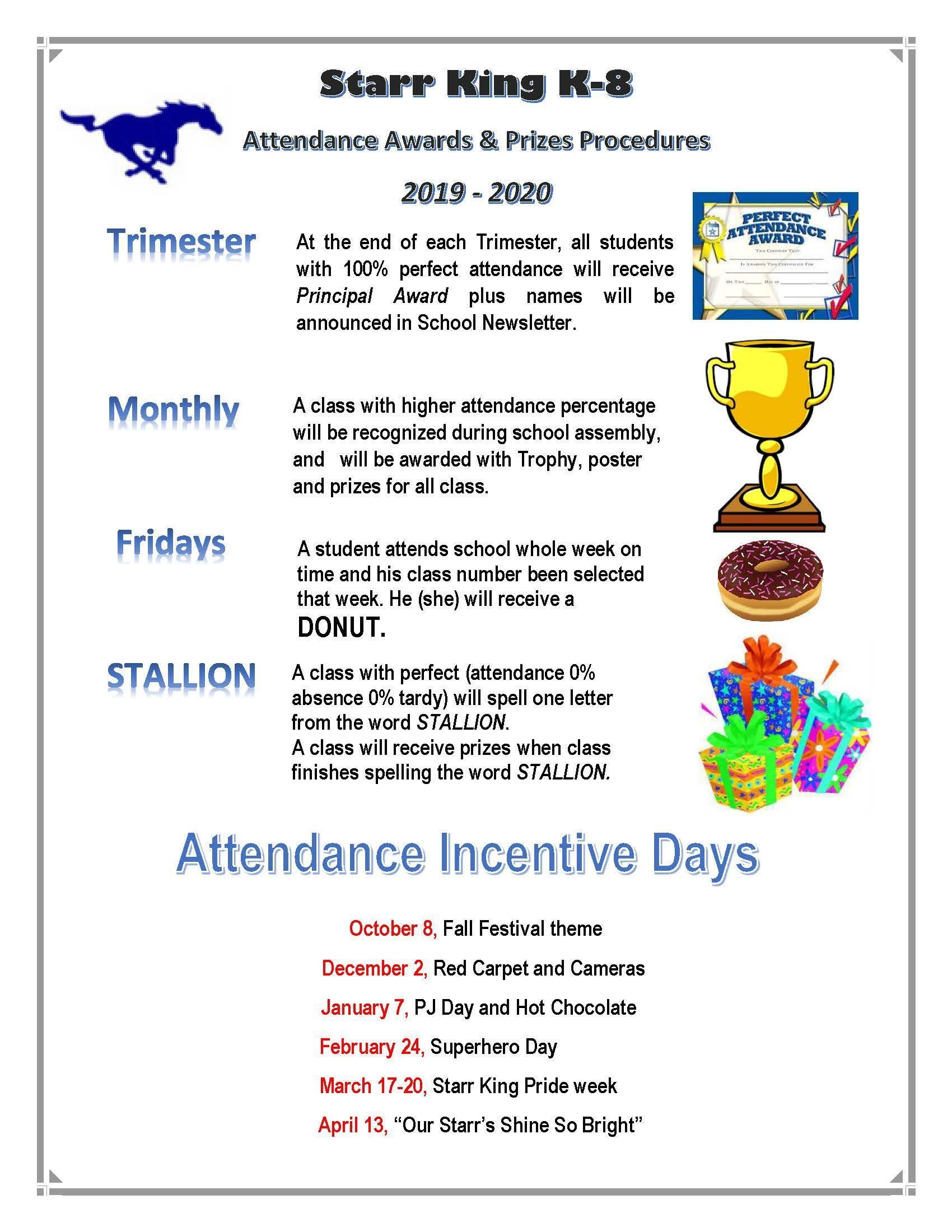 attendance incentives year round