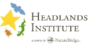 Logo of the Headlands Institute with a star, bird, lizard and bug outline