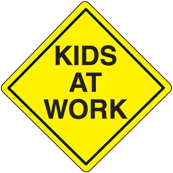 kids at work sign