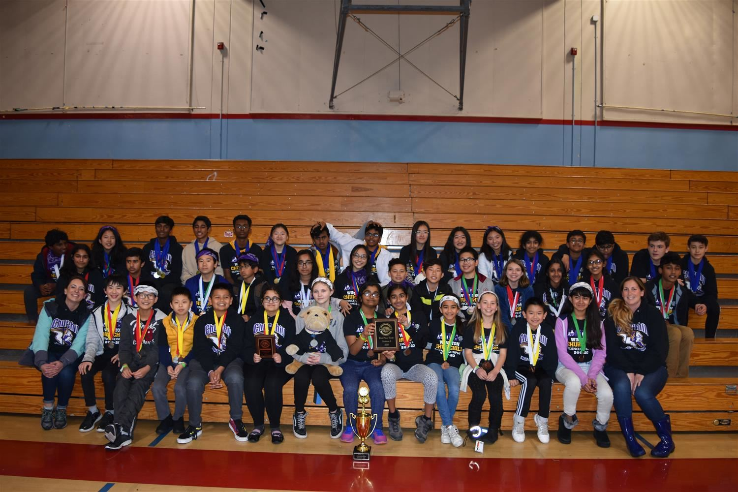 Churchill's Science Olympiad Team earned a 1st Place Finish at the Sacramento County Regional Competition in March 2020