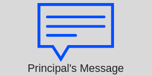 Principal's Message with dialogue box