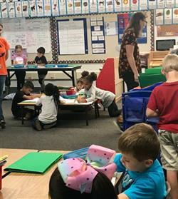 First Grade AVID Students at Work
