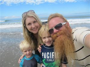 My wife and two boys in Santa Cruz
