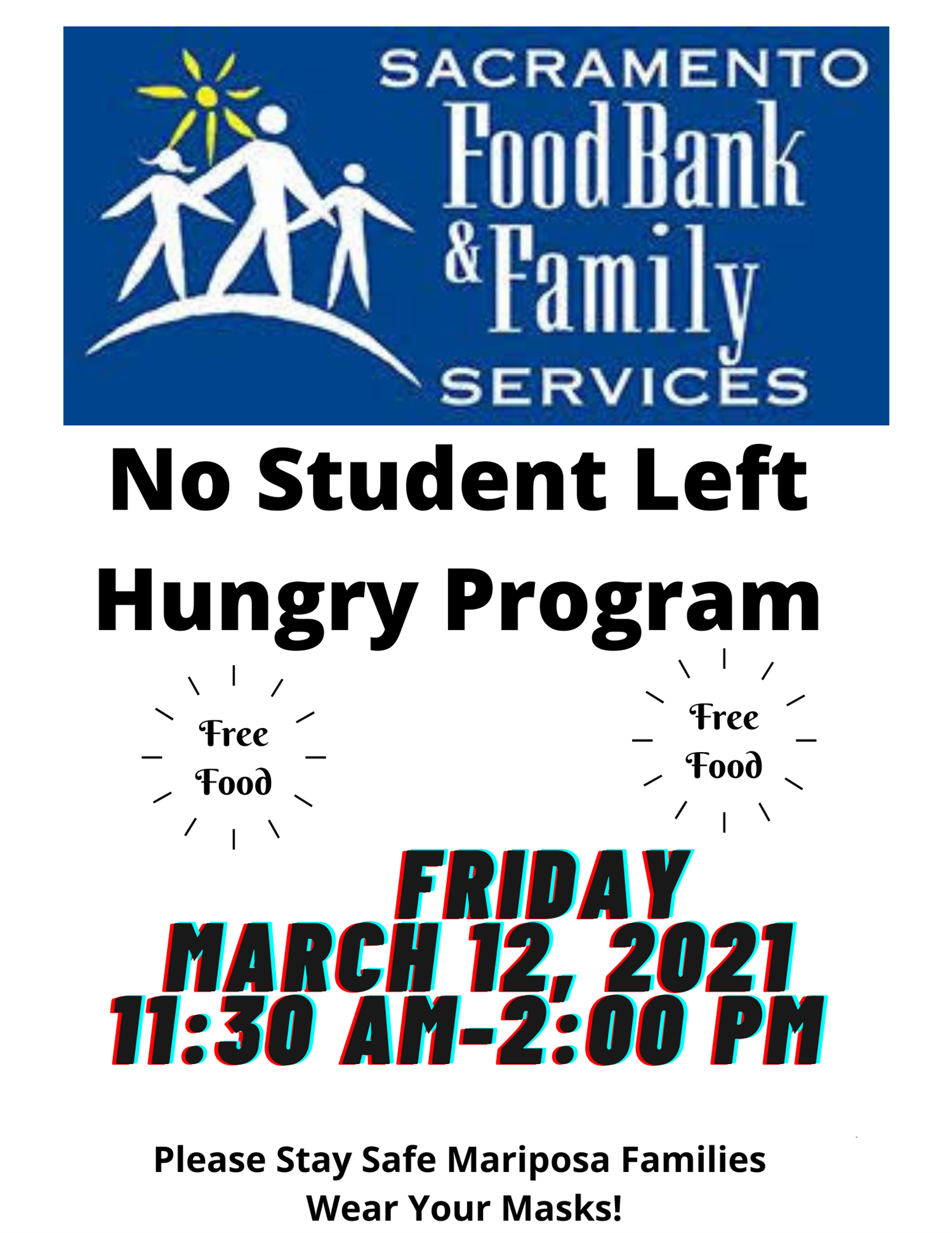 No Student Left Hungry Food Program March 12, 2021