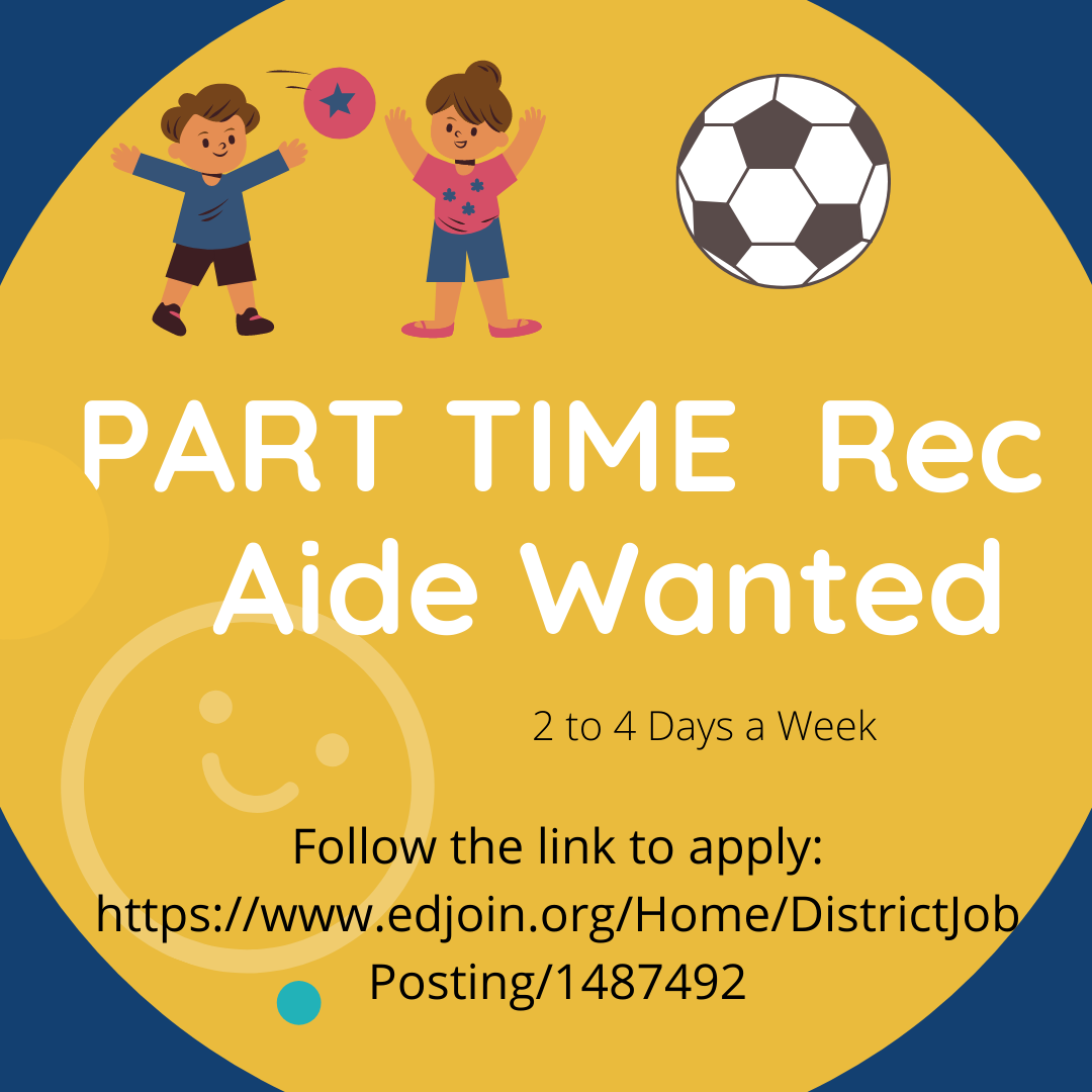 Part Time Rec Aide Wanted Flyer
