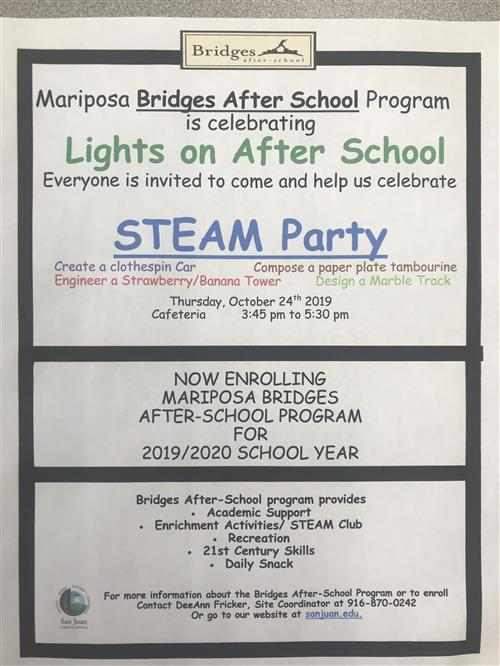 Lights on After School-STEAM Party