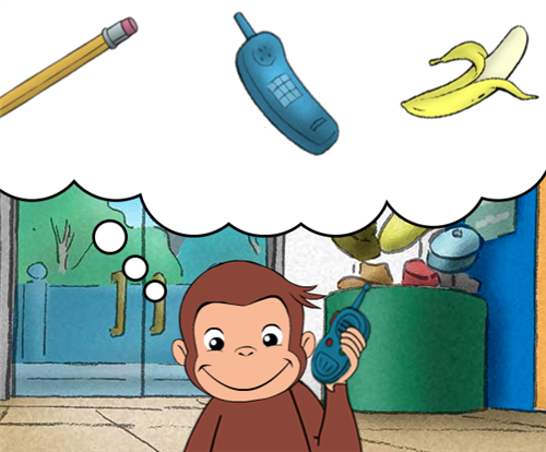 Curious George Thinking