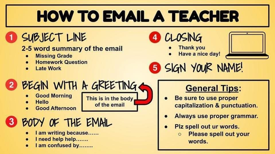 How to Email your Teacher