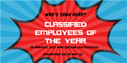 Classified employees of the year logo