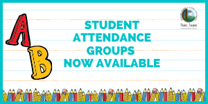 Graphic headline: Student Attendance Groups Now Available