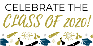 Celebrate the Class of 2020! with caps and diplomas