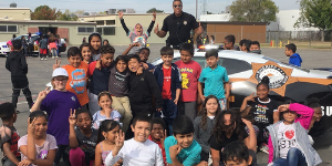 Sheriff Department's Youth Services Unit with students