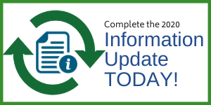 "Graphic showing revolving arrows and info icon; text ""information update today!"""