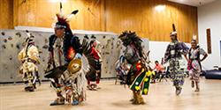 Native American dancers performing