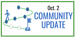 Graphic headline: Community Update Oct 2