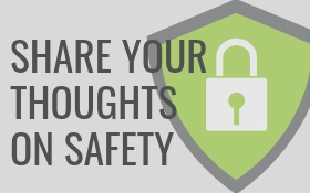 Share your thoughts on safety with lock symbol