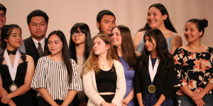 San Juan High School seniors receiving award