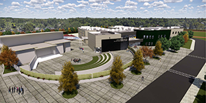 Rendering of new Arden Middle School campus