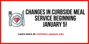 Effective Jan. 5, Nutrition Services will be changing curbside meal service at each of our location