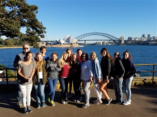 Casa in front of the Sydney Opera House (and slightly freezing!)