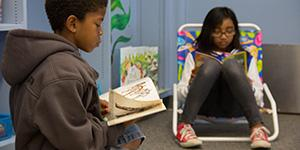 Starr King K-8 Students Enjoy Reading Room