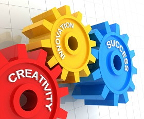 gears interlocking clip art to show creativity, innovation and sucess