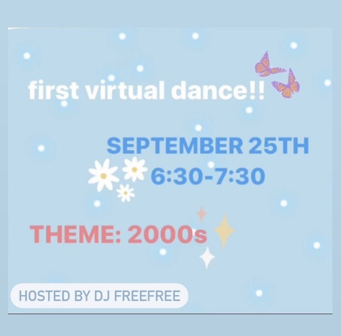 Virtual Dance Friday, September 25th at 6:30PM