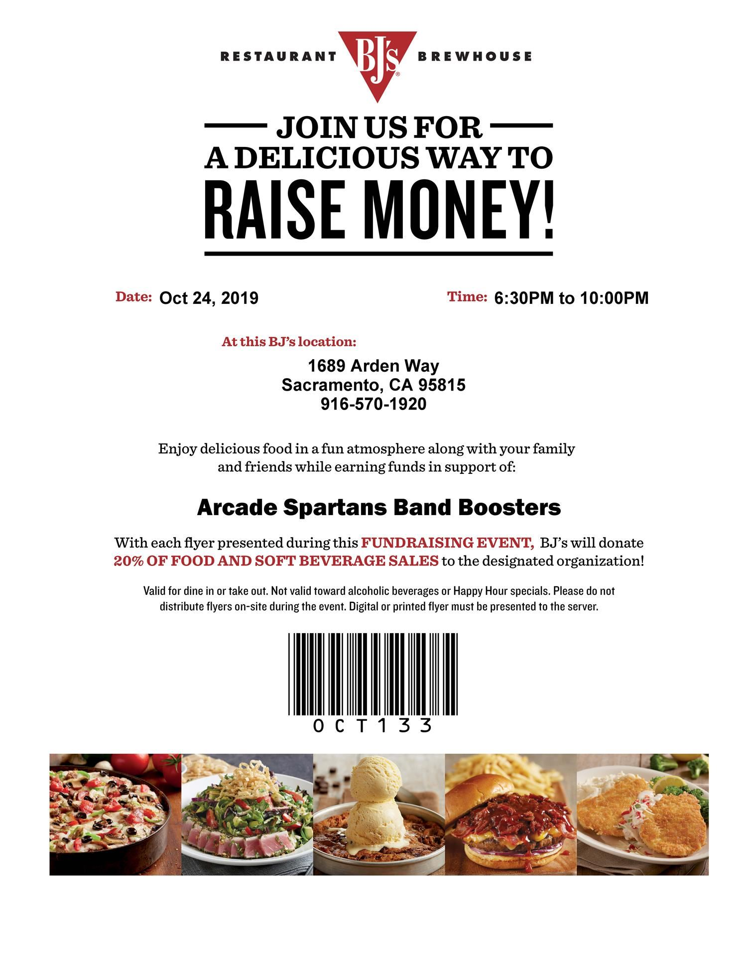 Arcade Spartans Band Booster Fundraising Event
