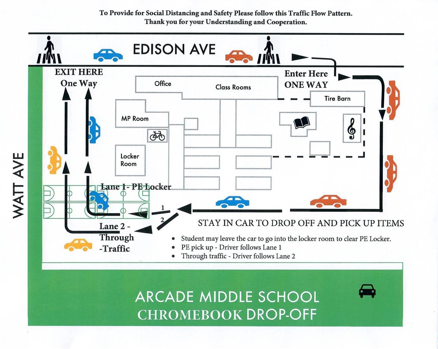 Arcade Drive Thru Days for items that need to be picked up or dropped off!
