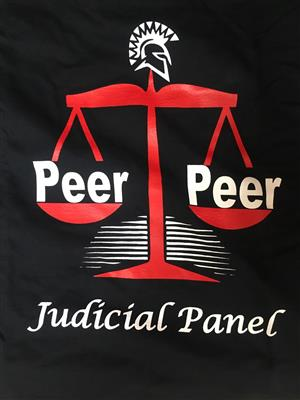 "Weight Scale that reads ""Peer Judicial Panel"""