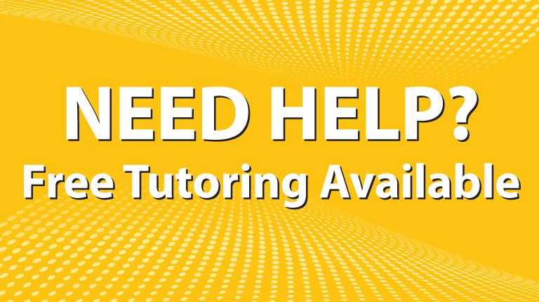 Free Tutoring is Available!