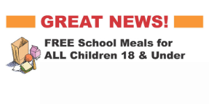 FREE School Meals for ALL Children ages 18 & Under