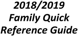 Family Quick Reference Guide