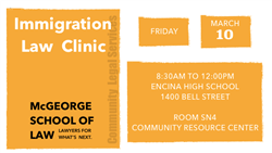 Immigration Law Clinic -- Friday, April 13th