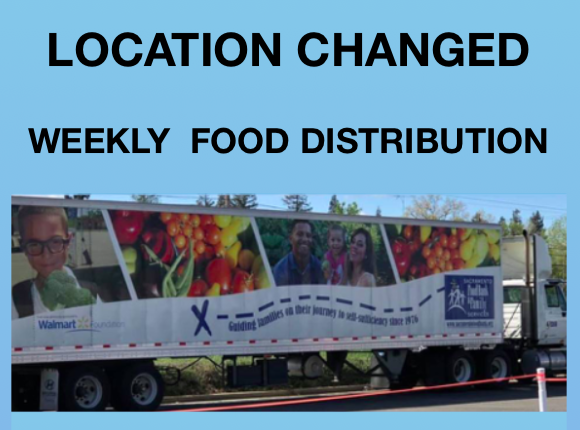 Weekly Food Distribution - New Location