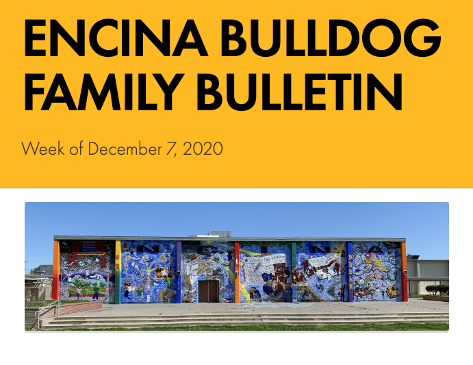 Encina Bulldog Family Bulletin