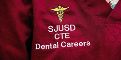 Photo of dental academy scrub top
