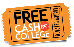 Cash for College -- Wednesday, October 25th from 6:00pm - 8:00pm