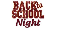 Back To School Night  Wednesday January 29th