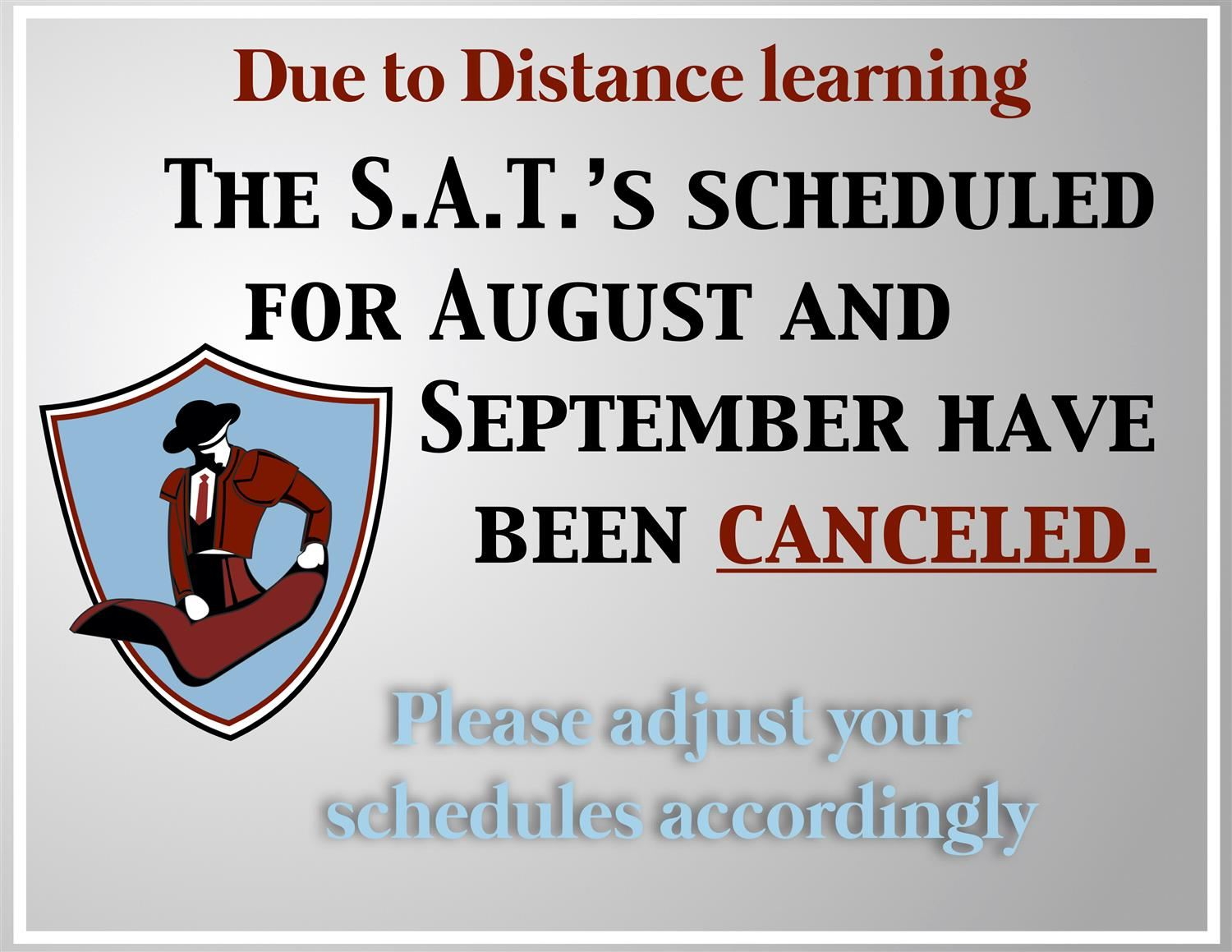 SAT's canceled
