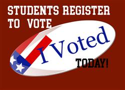 Students over 18 - Register to vote by October 22nd!