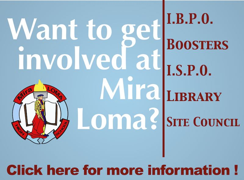 There are so many ways to get involved at Mira Loma. Join one our parent organizations today!