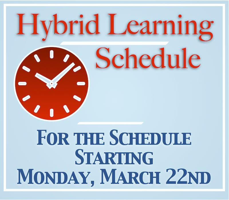 2020-2021 Hybrid Learning Schedule