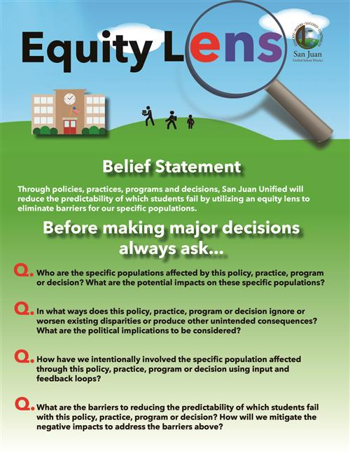 Equity Lens Belief Statement