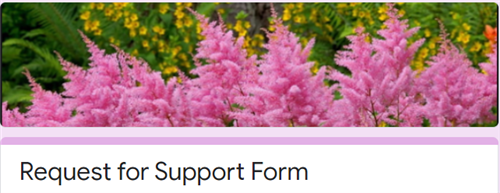 request for support form