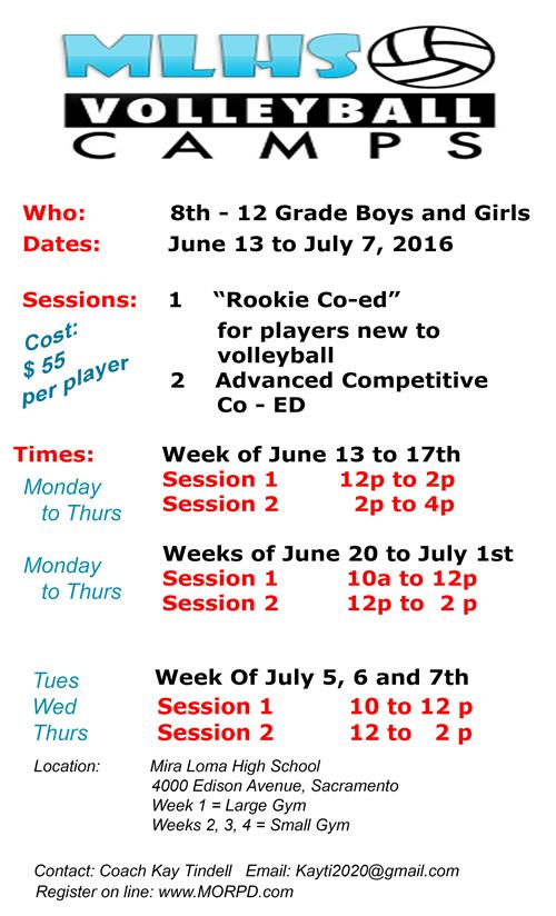 MLHS Summer Volleyball